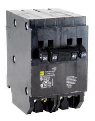 Square D™ Homeline™ 40 Amp, 120/240-Volt AC Quad Tandem Circuit Breaker