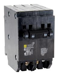 Square D™ Homeline™ 50 Amp, 120/240-Volt AC Quad Tandem Circuit Breaker