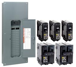 Square D™ Homeline™ 200 Amp, 30 Space/40 Circuits Indoor Main Breaker Load Center Value Pack