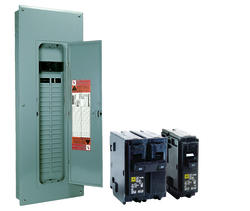 Square D™ Homeline™ 200 Amp, 40 Space/40 Circuits Indoor Main Breaker Load Center Value Pack