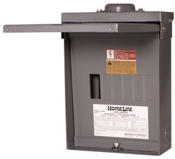 Square D™ Homeline™ 100 Amp, 6 Space/12 Circuits Outdoor Main Lug Load Center