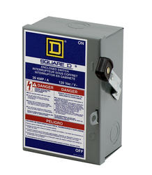 Square D™ 30 Amp Indoor Light Duty Enclosed 2 Wire Switch