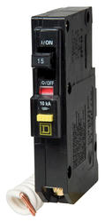 Square D™ QO™ 15 Amp, 120-Volt AC Single Pole Ground Fault Circuit Breaker