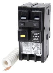 Square D™ Homeline™ 50 Amp, 120/240-Volt AC 2-Pole Ground Fault Circuit Breaker