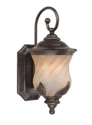 "Bayberry 2-Light 17.75"" Marbleized Bronze Wall Lantern"