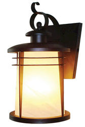 "Senecaville 1-Light 16.25"" Weathered Bronze Wall Lantern"