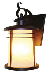 "Senecaville 3-Light 19.25"" Weathered Bronze Wall Lantern"