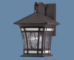 "Riverbend 1-Light 7"" Textured Rust Patina Wall Lantern"
