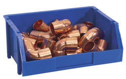 Stack-On® Medium Blue Stackable Storage Bin