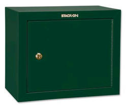 Stack-On® 2.2 cu ft. Capacity Hunter Green 2-Shelf Pistol/Ammo Security Cabinet with Key Lock