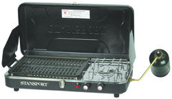High Output Propane Stove & Grill Combo with Piezo Igniter