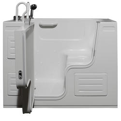 "Hydrolife Deluxe Walk-In Tub Heated Air Jets 51x27"" LD"