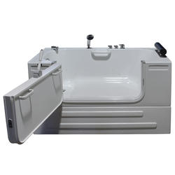 "Neptune Soaking Sit-In Tub wth faucets & 3ft Door 59x32"" LD"