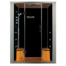Galaxy Plus Steam Shower w/multiple H2O Jets 59x36x85in Left