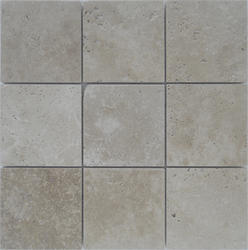 "StoneSkin® Travertine Peel N Stick Mosaic Tile 4"" X 4"""