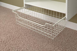"EASY TRACK 8"" White Wire Basket"
