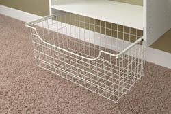 "EASY TRACK 12"" White Wire Basket"