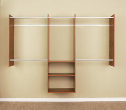 EASY TRACK 4' to 8' Natural Cherry Deluxe Starter Closet Kit
