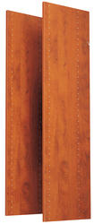 """EASY TRACK 48"""" Natural Cherry Vertical Panels (2-Pack)"""