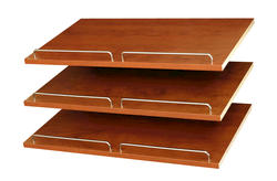 "EASY TRACK 24"" Natural Cherry Shoe Shelves (3-Pack)"