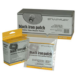 Strait-Flex Black Iron Patch Sprinkler Pipe Repair Patches - Bag of 20