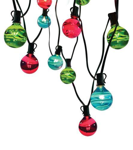 String Lights Menards : Multicolored Swirl Globe Light Set (10- Lights) at Menards