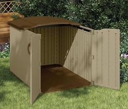 """Suncast Glidetop Slide Lid 4' 9"""" x 6' 7"""" x 4' 4"""" Storage Unit"""