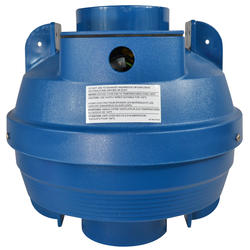 "Suncourt 4"" In-Line Centrifugal Tube Fan (Blue)"