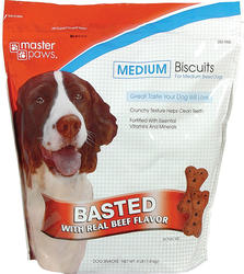 Masterpaws® Beef Biscuits for Medium Breed Dogs - 4 lb.