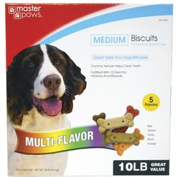 Masterpaws® Multi-Flavored Biscuits for Medium Breed Dogs - 10 lb.