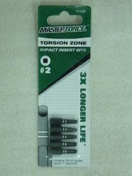 "Masterforce® 1"" #2 Square Impact Insert Bit (5-Pack)"