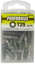 """Performax® T25 x 1"""" TORX® Insert Bit (30 Pack)"""