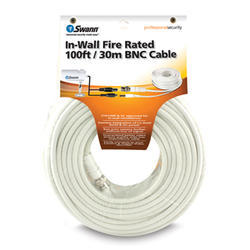 In-Wall Fire Rated 100ft BNC Cable