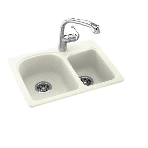 Swan space saver 25 w x 18 d double bowl kitchen sink at - Space saving sinks kitchen ...