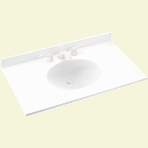 Swan Ellipse 22 X 55 Solid Surface Vanity Top At Menards