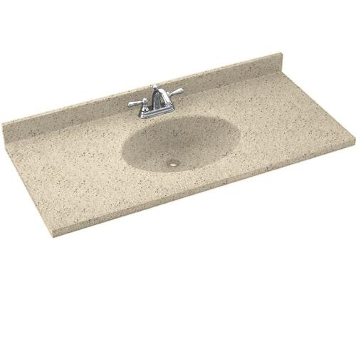 Swan chesapeake solid surface 22 x 37 vanity top at menards - Custom solid surface bathroom vanity tops ...