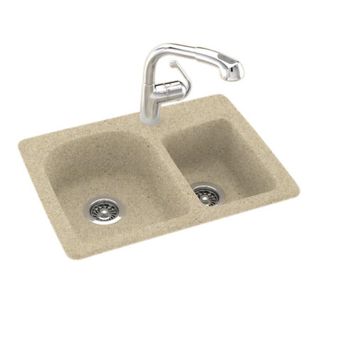 Swan Space Saver 25 Quot W X 18 Quot D Double Bowl Kitchen Sink At
