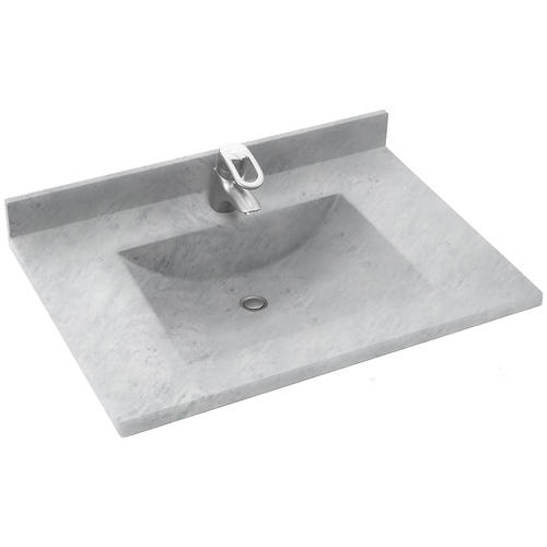 Swan contour 22 x 25 solid surface vanity top at menards - Custom solid surface bathroom vanity tops ...