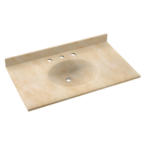 Swan Ellipse 19 X 37 Solid Surface Vanity Top At Menards