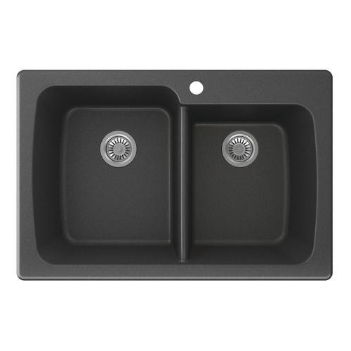 "Swan Granite 33""W x 22""D Double Bowl Kitchen Sink at Menards"