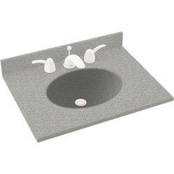 """Swan Ellipse 17"""" x 19"""" Solid Surface Vanity Top"""