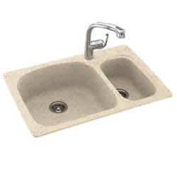 """Swan Large-Small 33""""W x 22"""" D Double Bowl Kitchen Sink"""