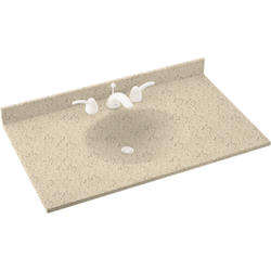 """Swan Ellipse 22"""" x 55"""" Solid Surface Vanity Top"""