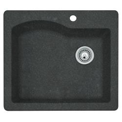 """Swan Granite 25""""W x 22""""D Single Bowl Kitchen Sink"""