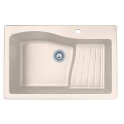 """Swan Granite 33""""W x 22""""D Single Bowl Ascend Kitchen Sink"""