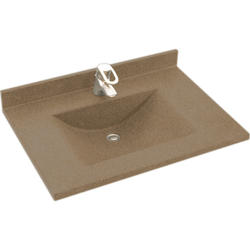 """Swan Contour 22"""" x 37"""" Solid Surface Vanity Top"""