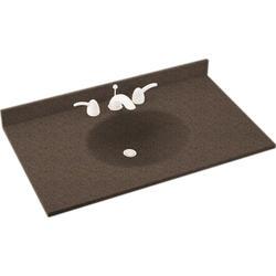 """Swan Ellipse 19"""" x 31"""" Solid Surface Vanity Top"""