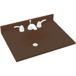 "Swan Ellipse 17"" x 19"" Solid Surface Vanity Top"