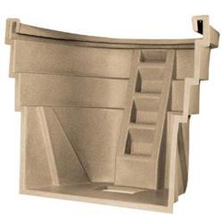 "Wellcraft™ 78"" x 60"" x 45"" Polyethylene 4-Step Egress Window Well"