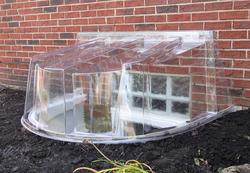 "Wellcraft™ 58-1/4"" x 44"" Clear Polycarbonate Window Well Dome Cover"